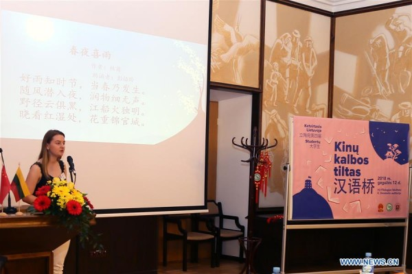 Chinese Proficiency Competition for school students held in Lithuania